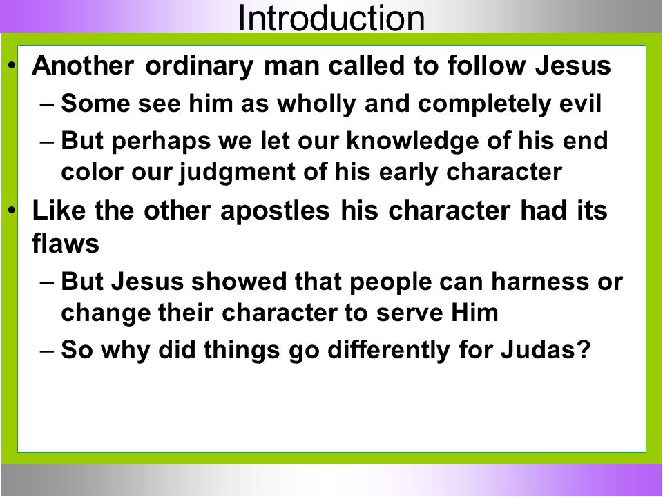 Introduction Another ordinary man called to follow Jesus