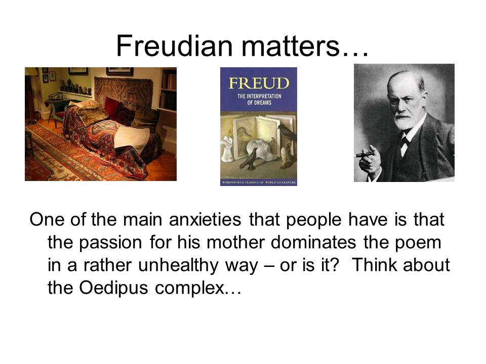 Freudian matters…