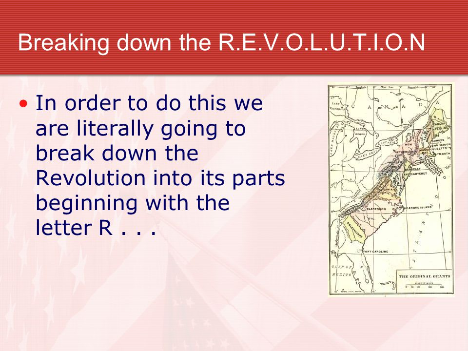 Breaking down the R.E.V.O.L.U.T.I.O.N