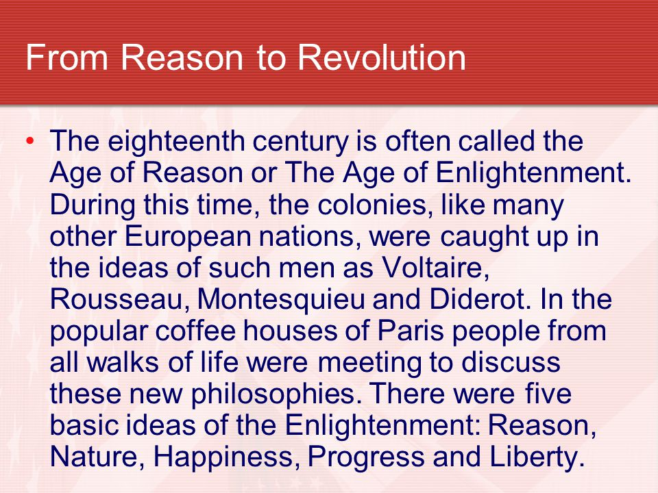 From Reason to Revolution