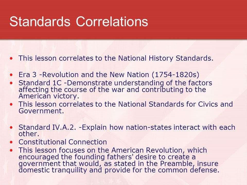 Standards Correlations