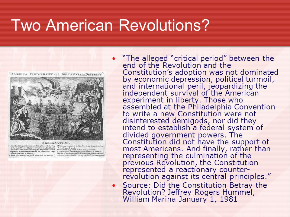 Two American Revolutions