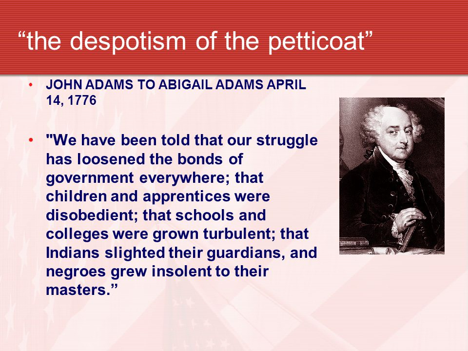 the despotism of the petticoat
