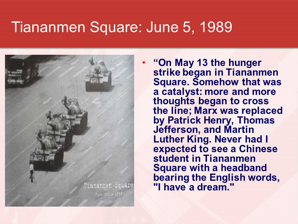 Tiananmen Square: June 5, 1989