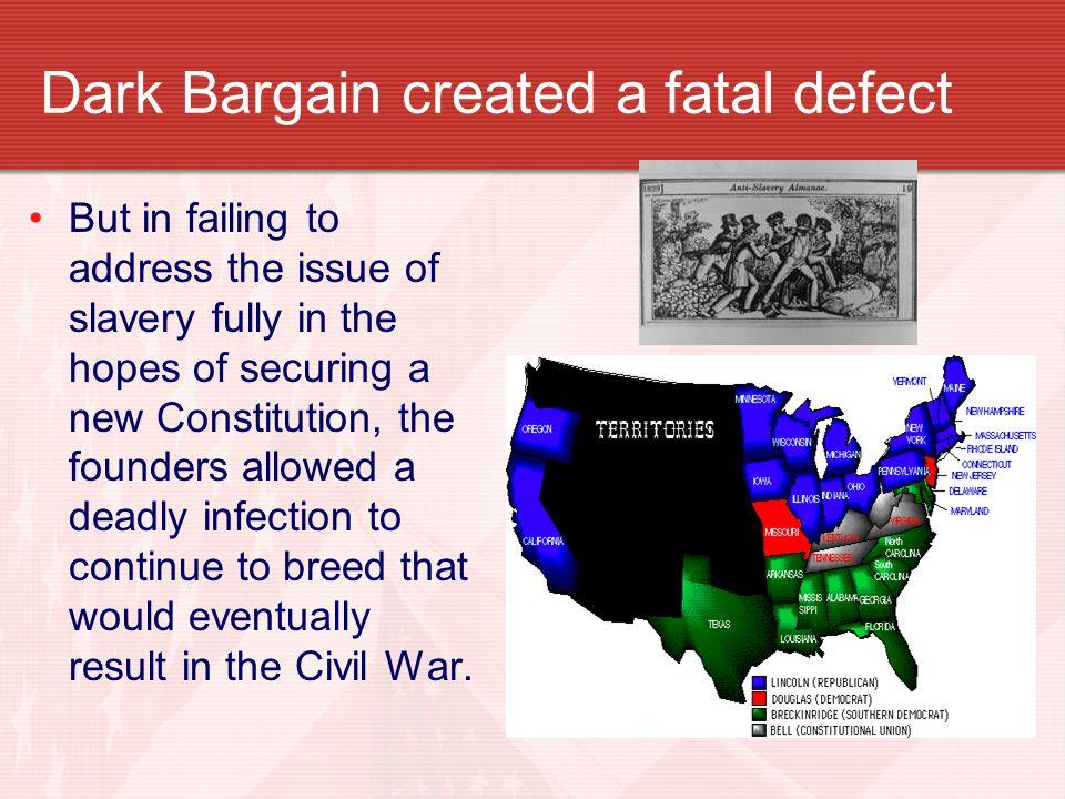 Dark Bargain created a fatal defect