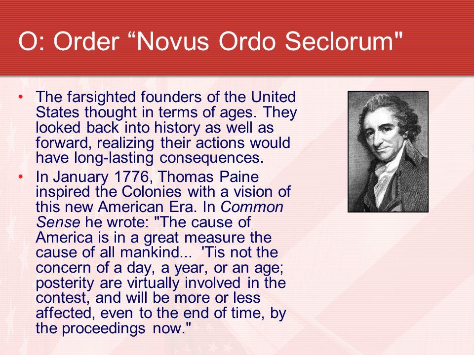 O: Order Novus Ordo Seclorum