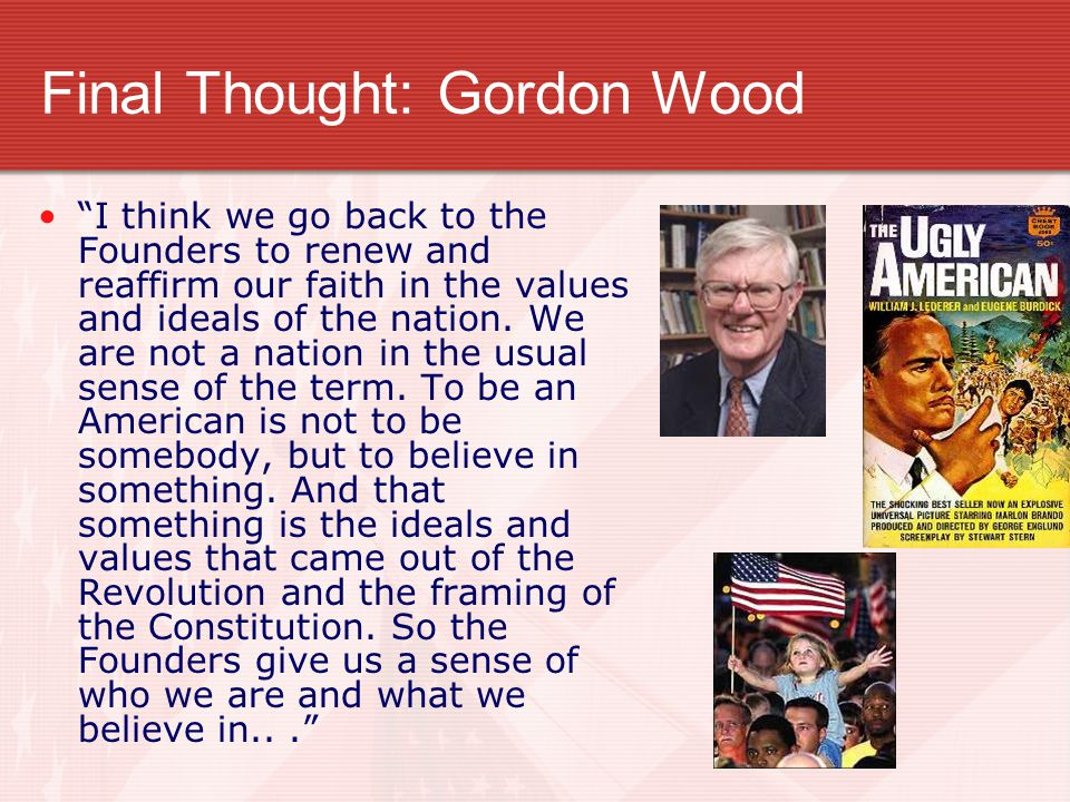 Final Thought: Gordon Wood