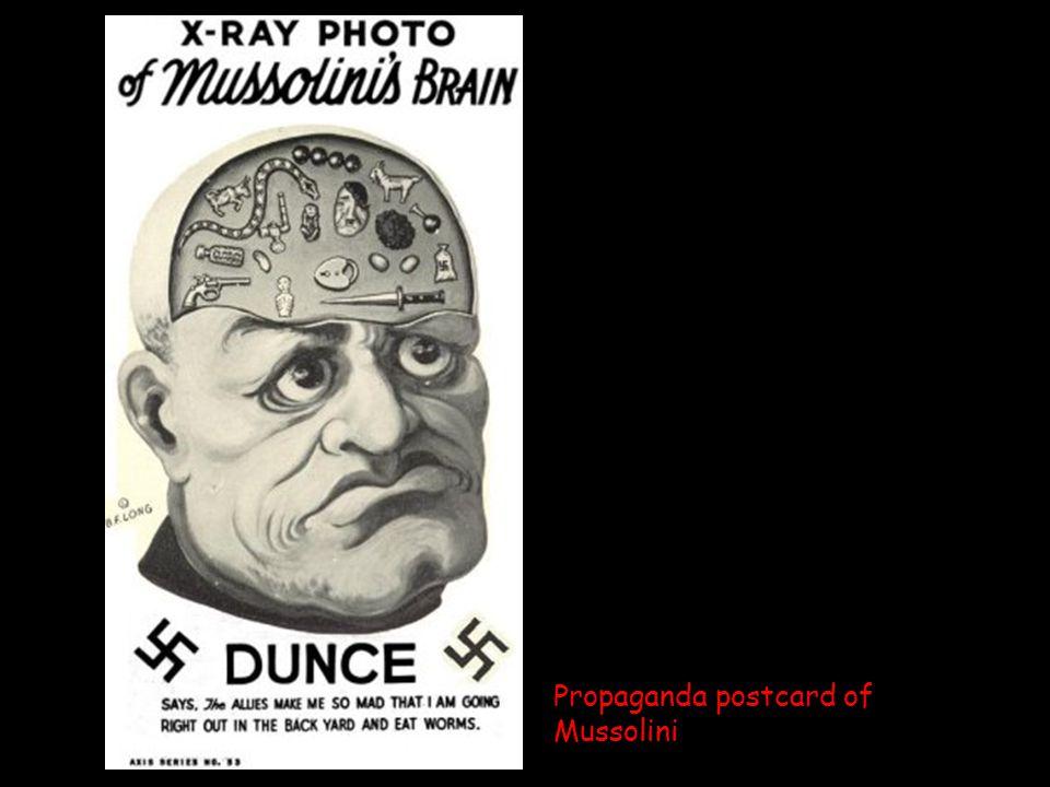 Propaganda postcard of Mussolini