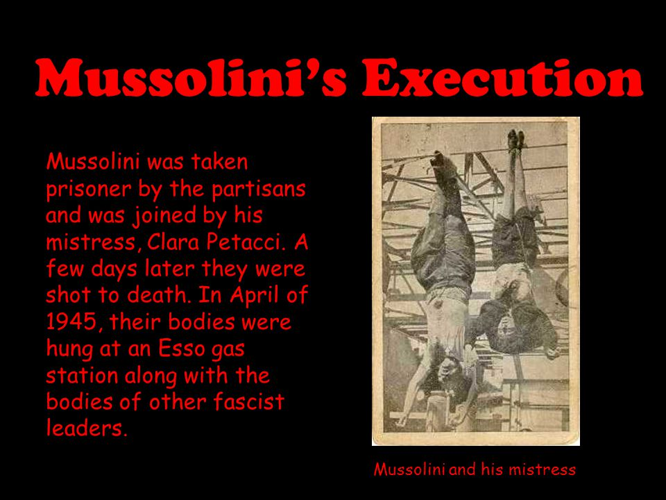 Mussolini's Execution