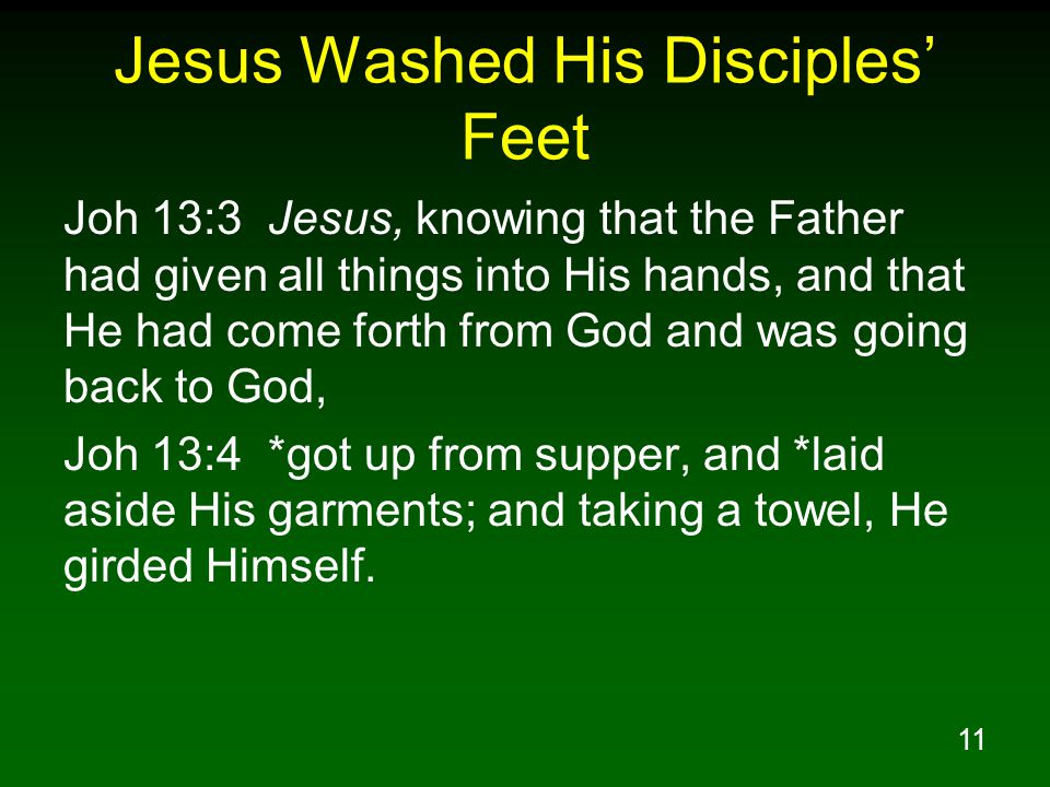 Jesus Washed His Disciples' Feet