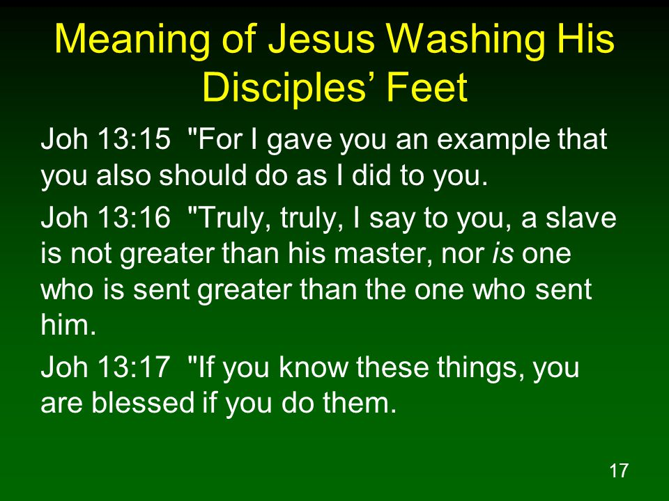 Meaning of Jesus Washing His Disciples' Feet