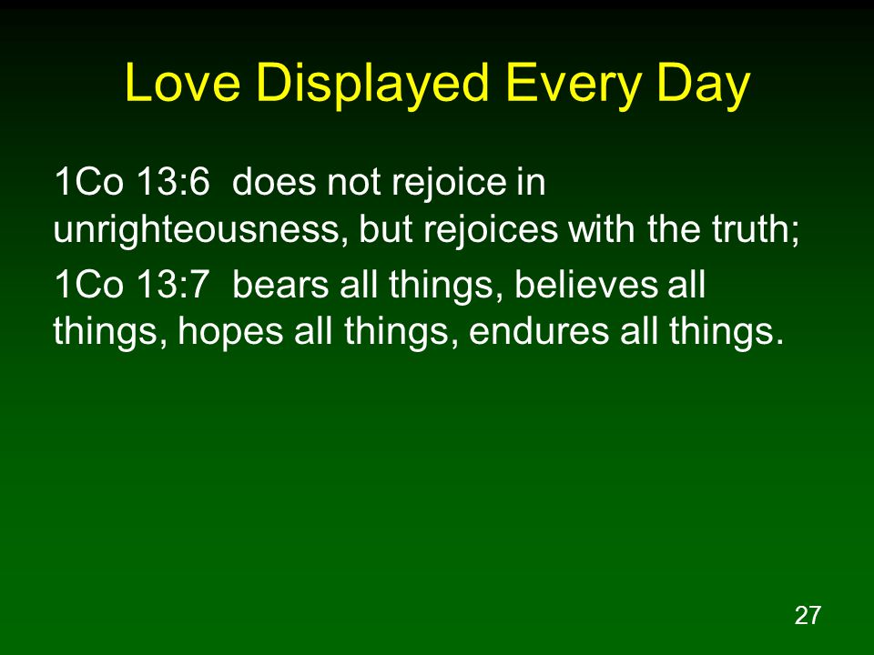 Love Displayed Every Day