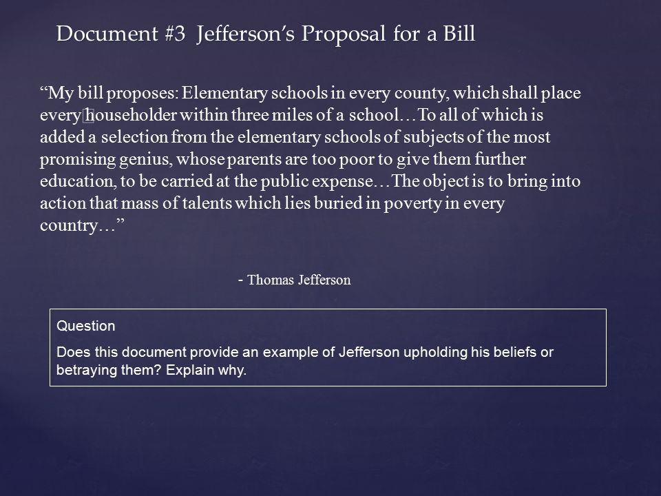 Document #3 Jefferson's Proposal for a Bill