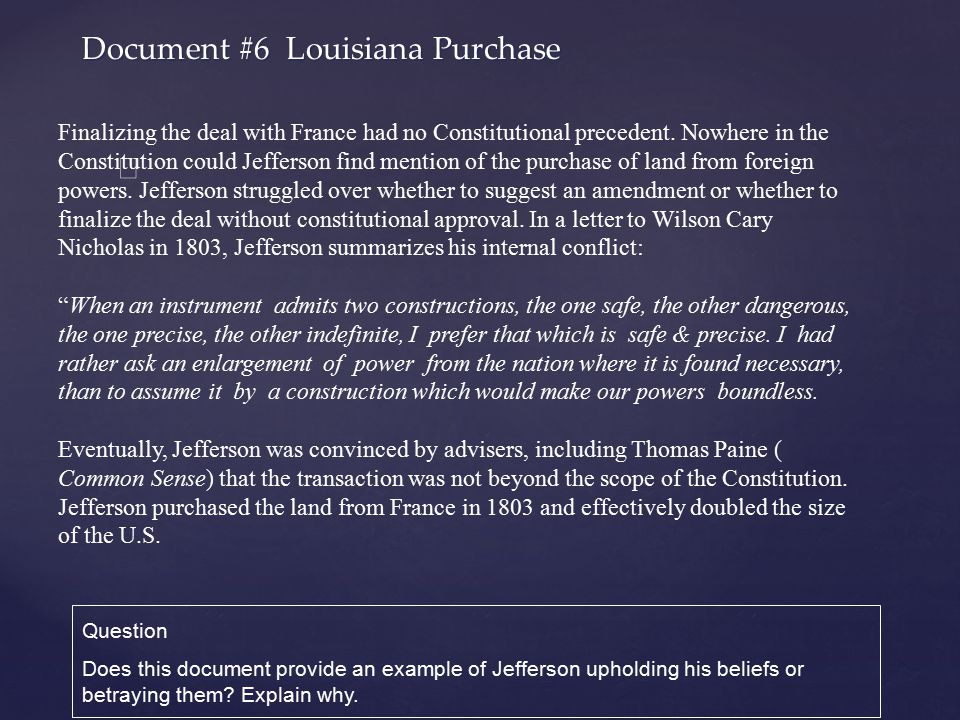 Document #6 Louisiana Purchase