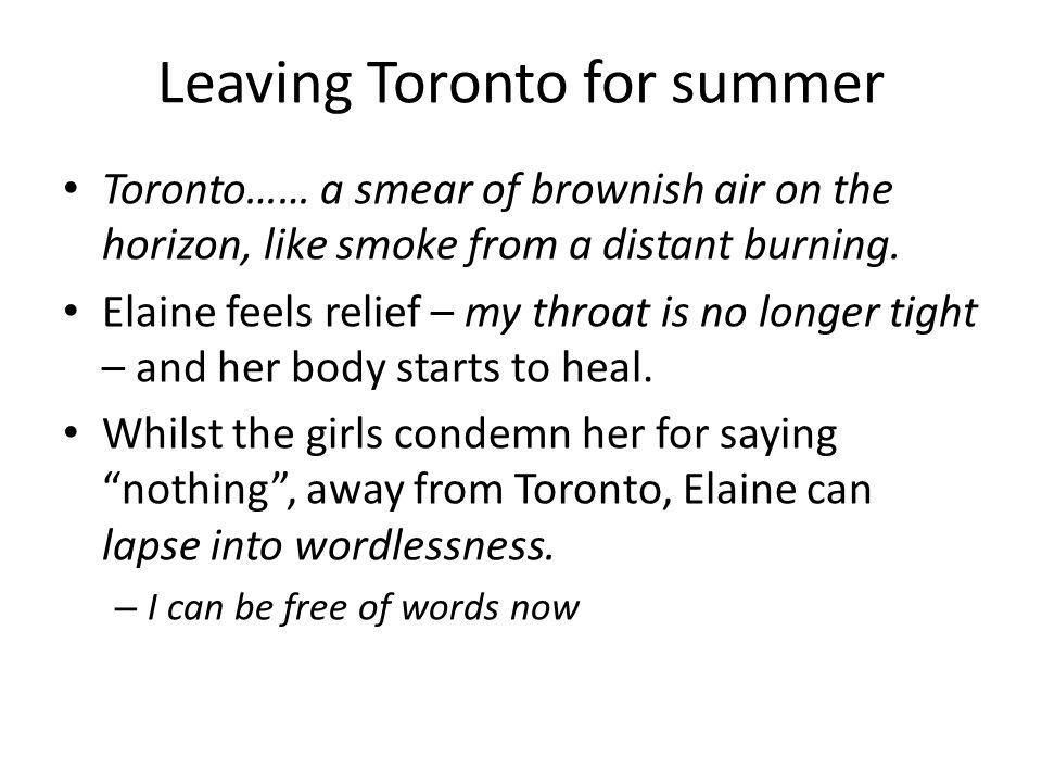 Leaving Toronto for summer