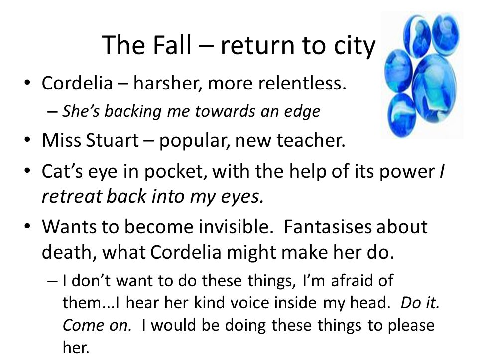 The Fall – return to city