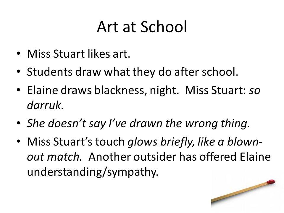 Art at School Miss Stuart likes art.