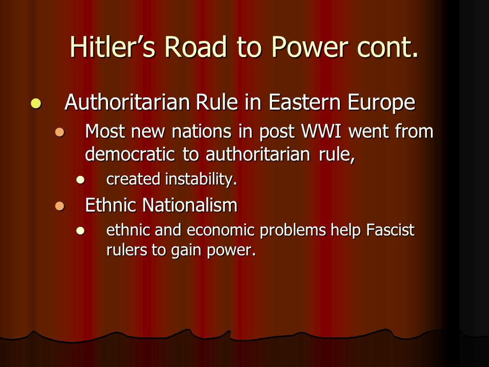 Hitler's Road to Power cont.
