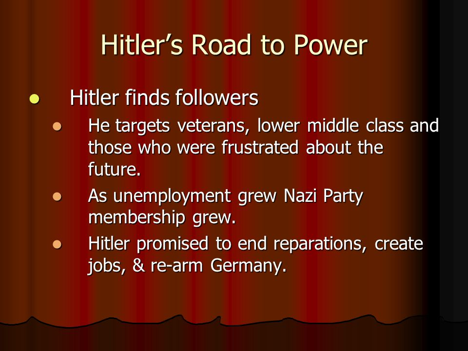 Hitler's Road to Power Hitler finds followers