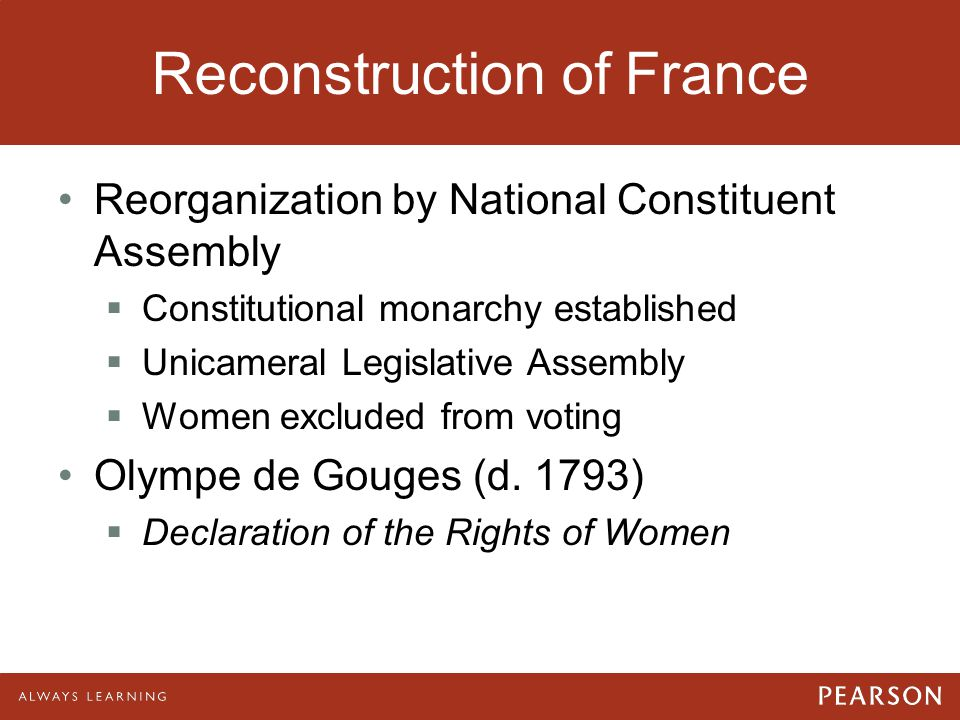 Reconstruction of France