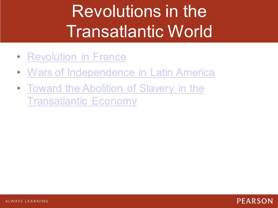 Revolutions in the Transatlantic World