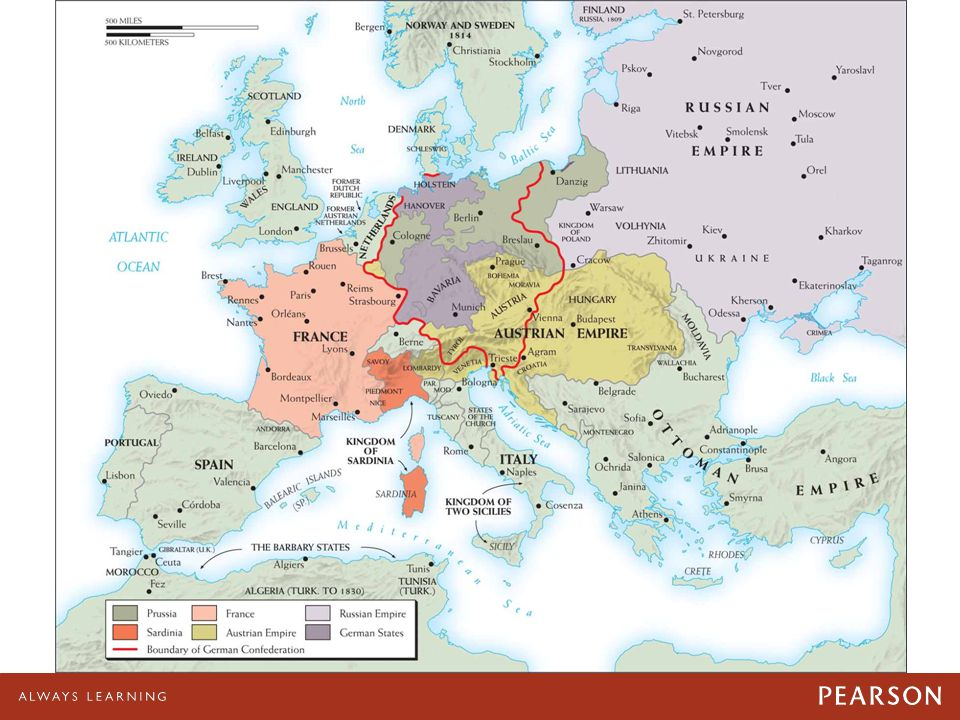 Map 22–3 Europe 1815, after the Congress of Vienna