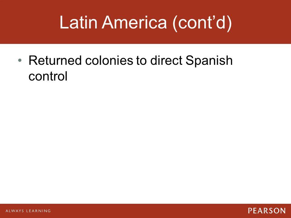 Latin America (cont'd)