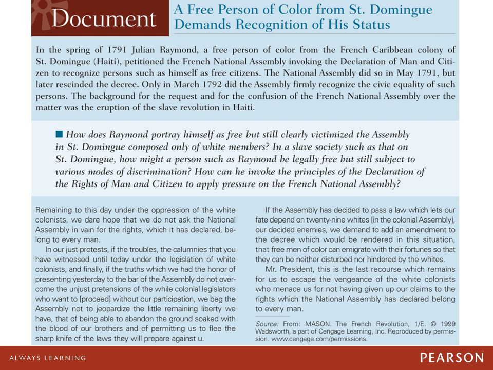 04/28/11 A Free Person of Color from St. Domingue Demands Recognition of His Status.