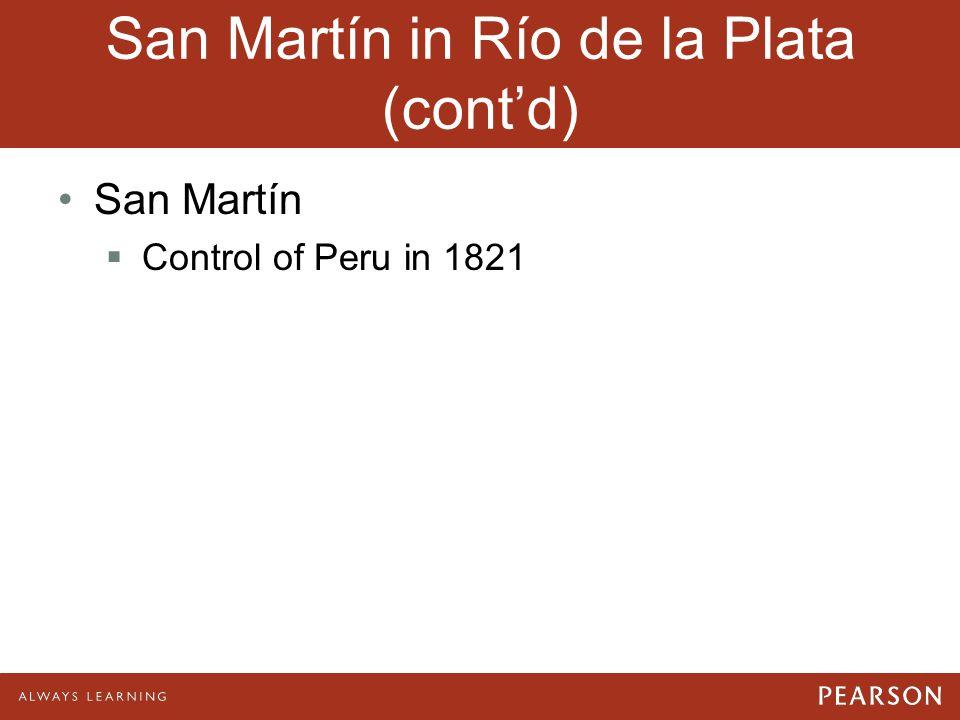 San Martín in Río de la Plata (cont'd)