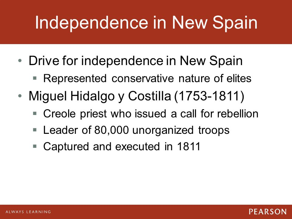 Independence in New Spain