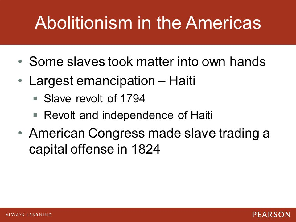 Abolitionism in the Americas