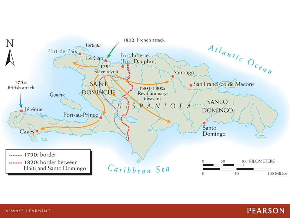 Map 22–5 The Haitian Revolution