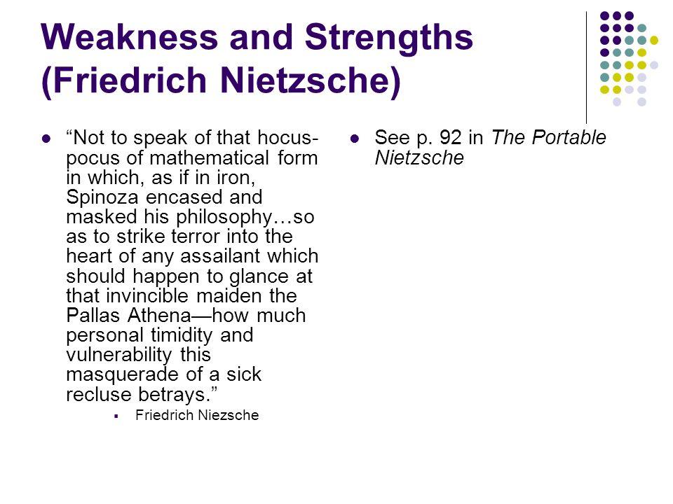 Weakness and Strengths (Friedrich Nietzsche)