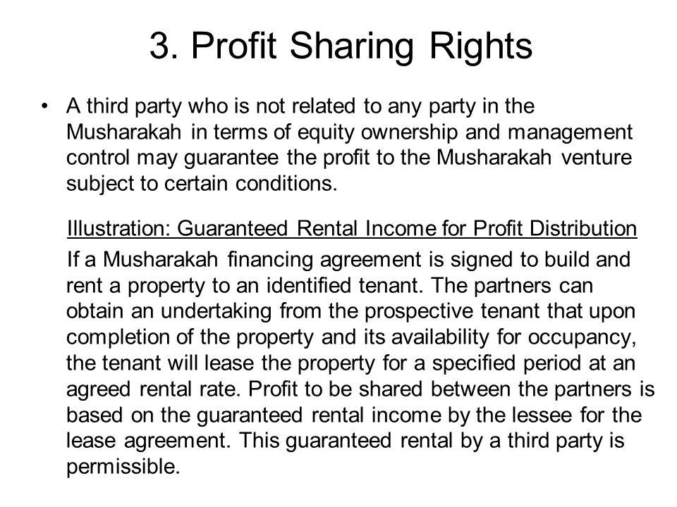 3. Profit Sharing Rights