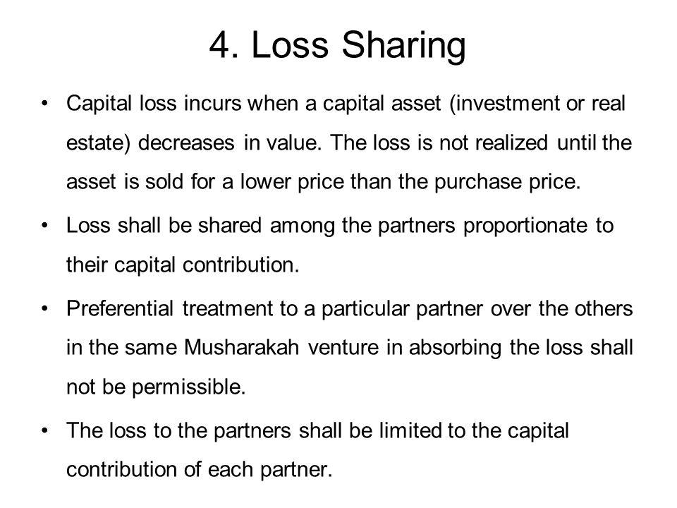 4. Loss Sharing
