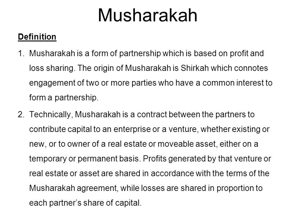 Musharakah Definition