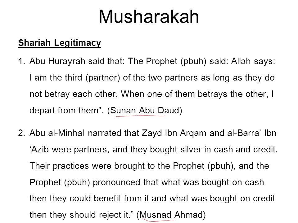 Musharakah Shariah Legitimacy