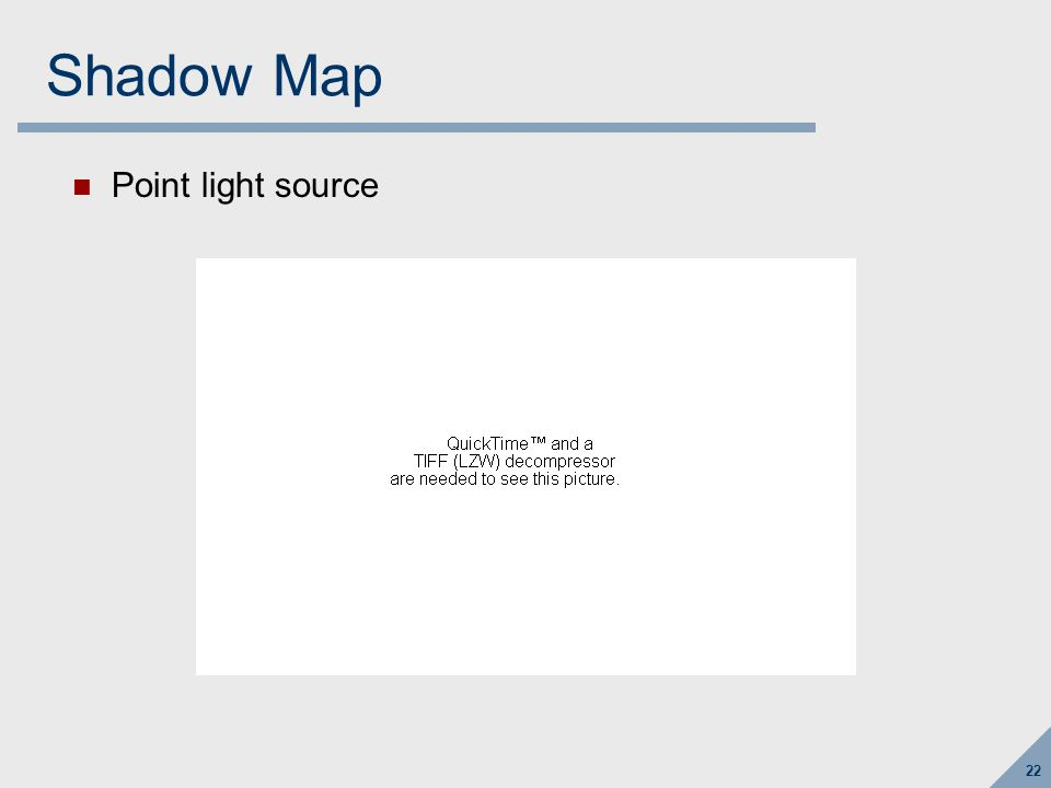 Shadow Map Directional light source use orthographic shadow camera