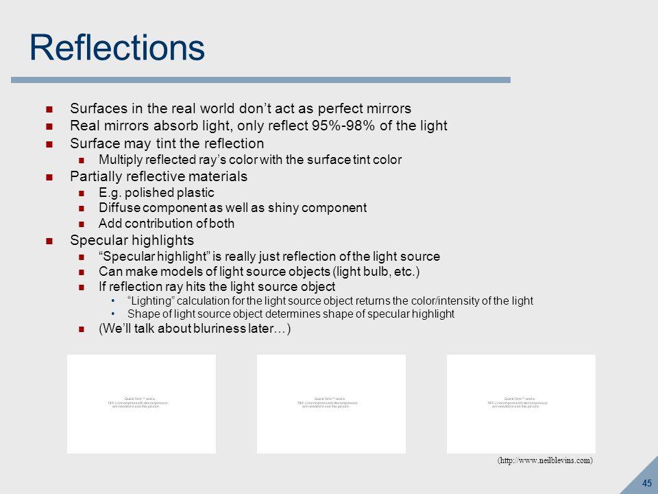 Refraction AKA Transmission: light passes through material
