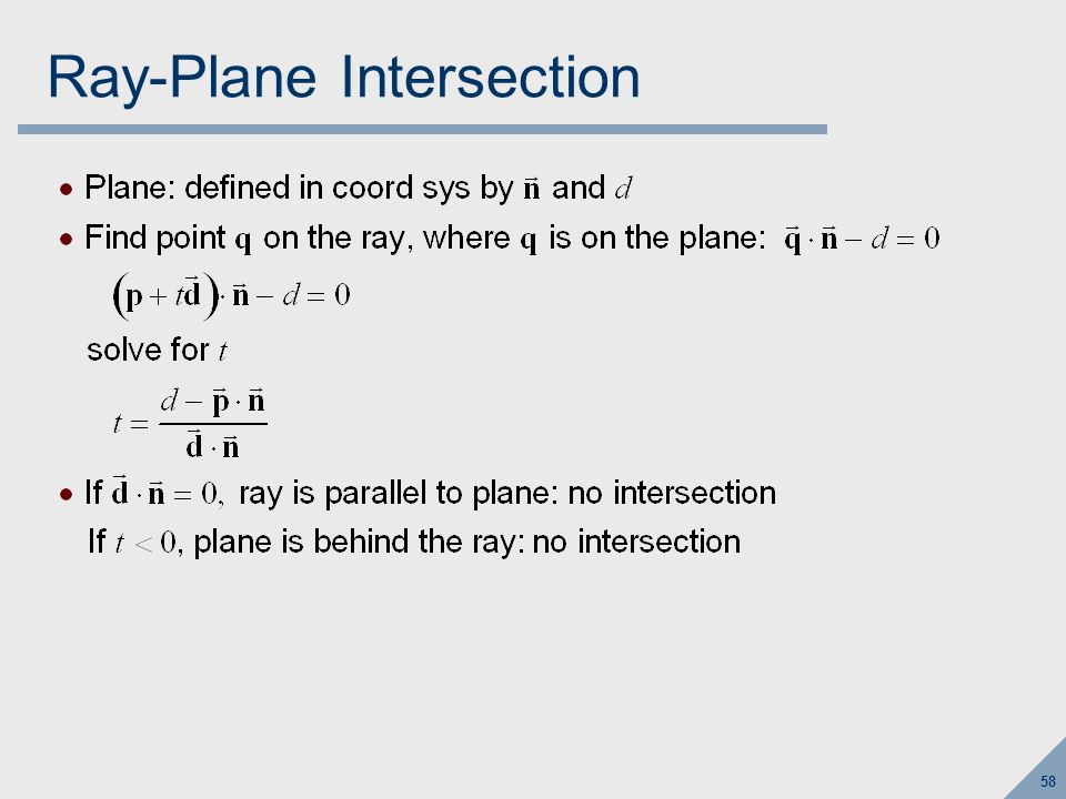 Ray-Triangle Intersection