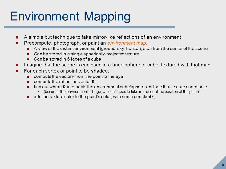 Environment Mapping n r e