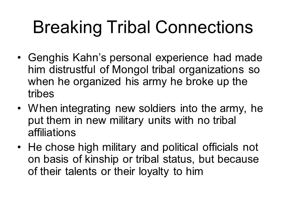 Breaking Tribal Connections