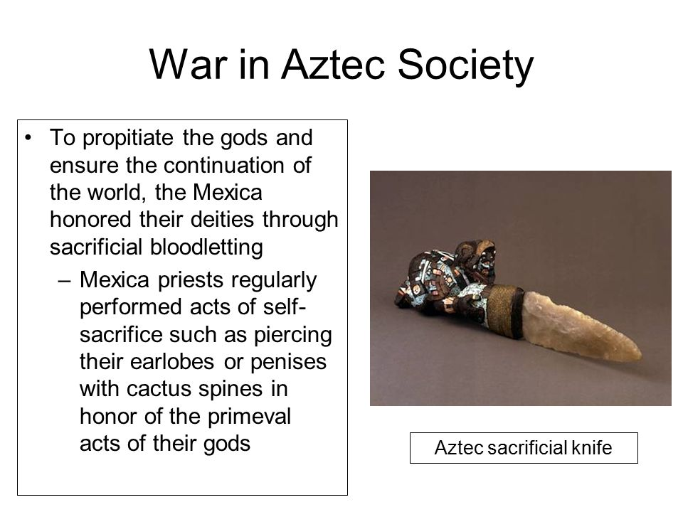 Aztec sacrificial knife