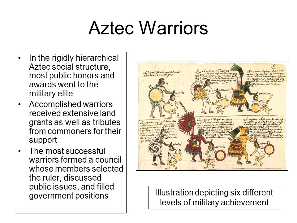 Illustration depicting six different levels of military achievement