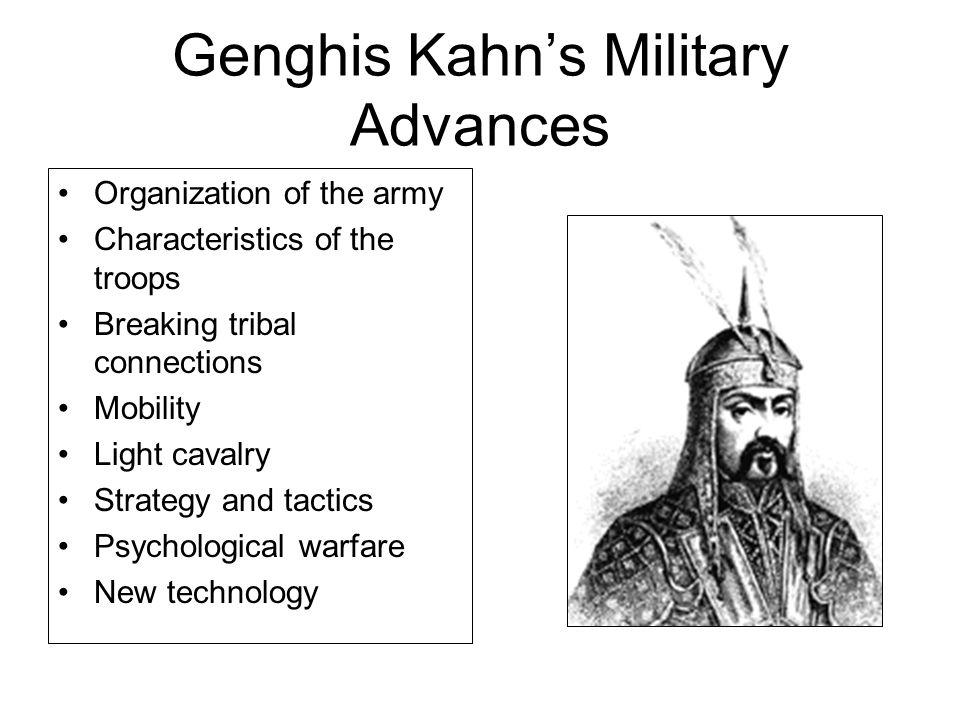 Genghis Kahn's Military Advances