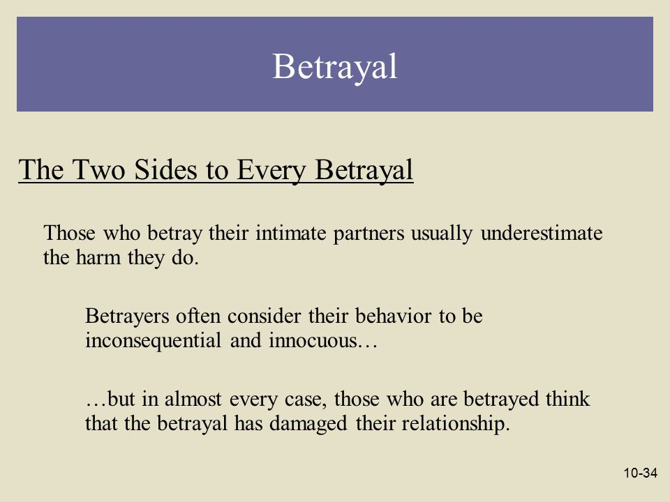 Betrayal The Two Sides to Every Betrayal