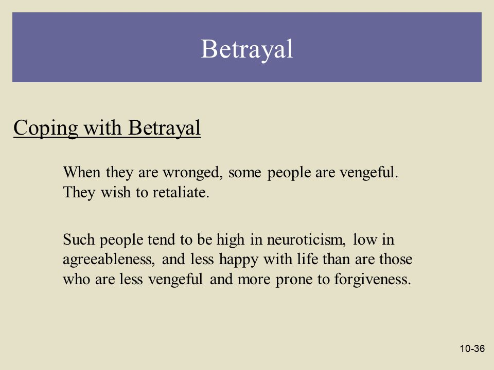 Betrayal Coping with Betrayal