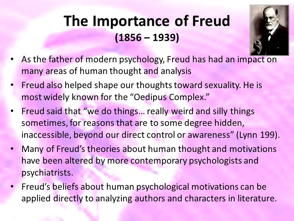 The Importance of Freud (1856 – 1939)