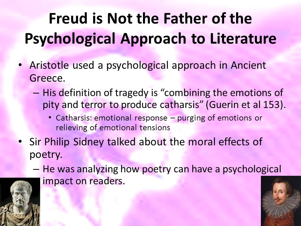 Freud is Not the Father of the Psychological Approach to Literature