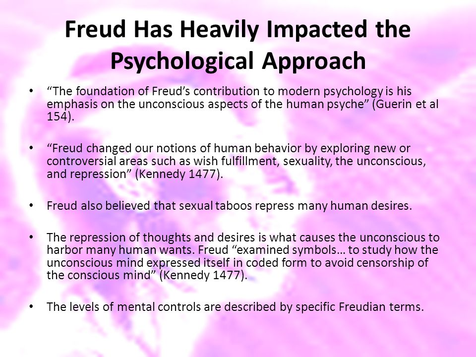 Freud Has Heavily Impacted the Psychological Approach
